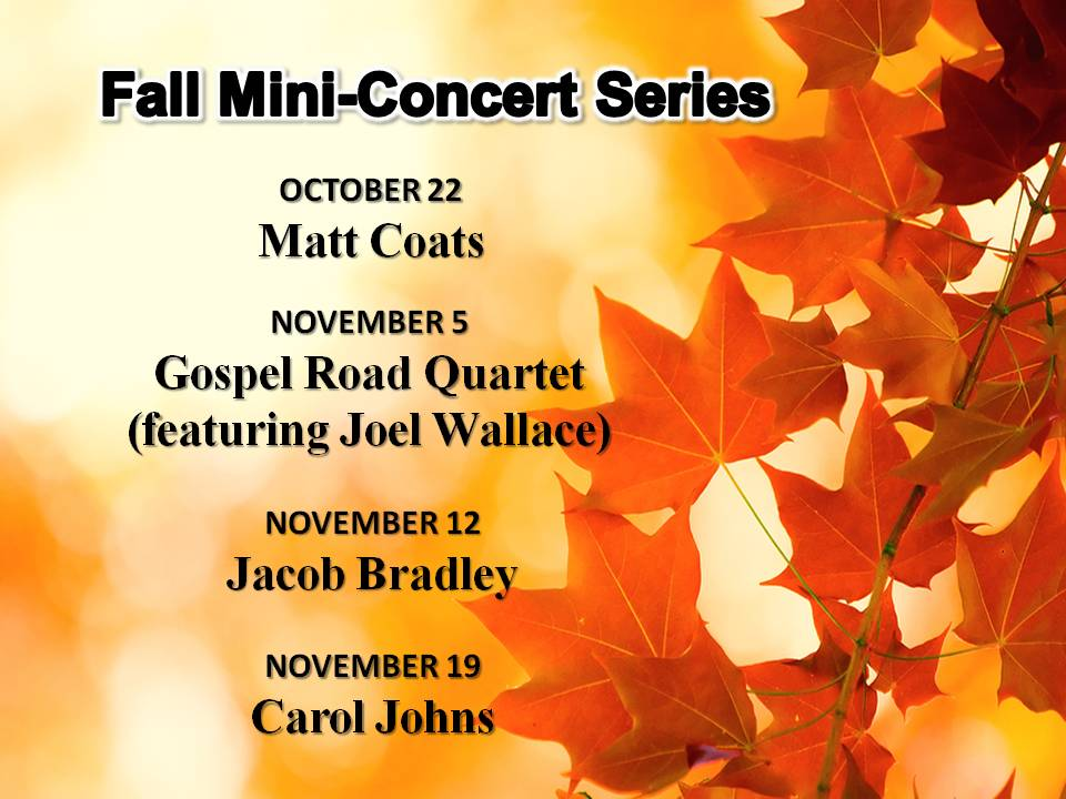 Woodmont, Baptist, Church, Fall, mini concert, music,